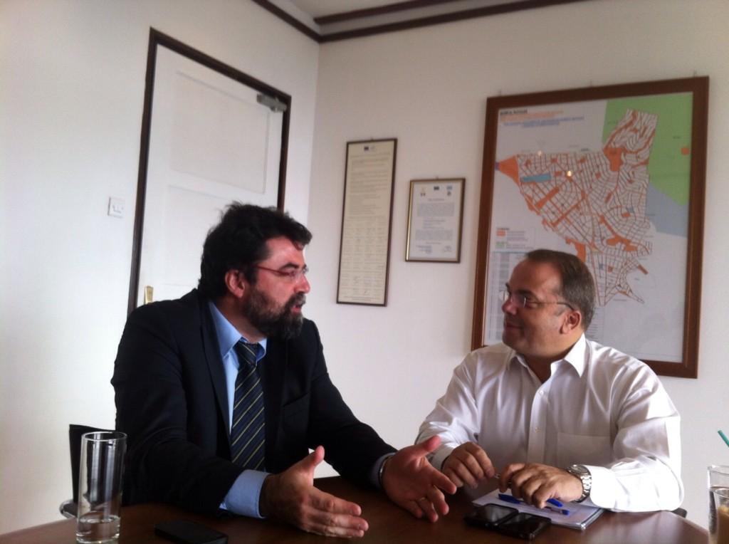 Συνάντηση με τον Βασίλη Οικονόμου είχε ο Γρηγόρης Κωνσταντέλλος