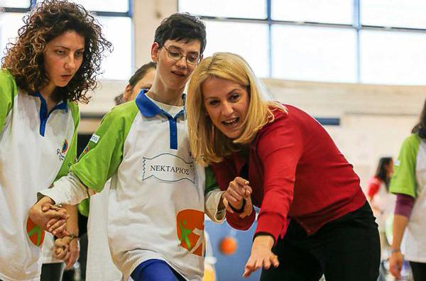 Η Ρένα στην αρένα του προγράμματος Special Olympics