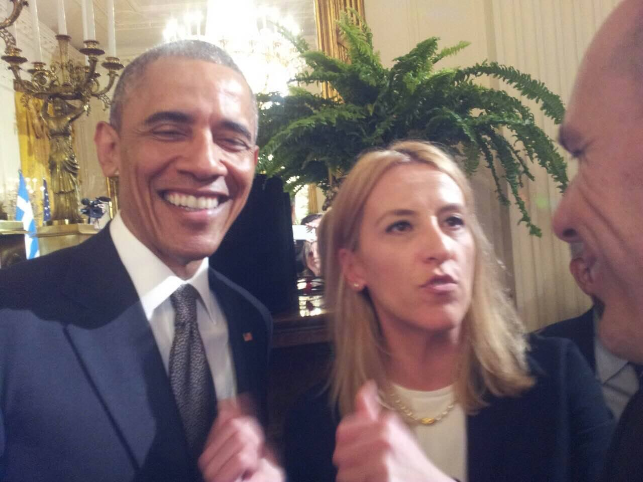 H Ρένα Δούρου στο Λευκό Οίκο (photos)