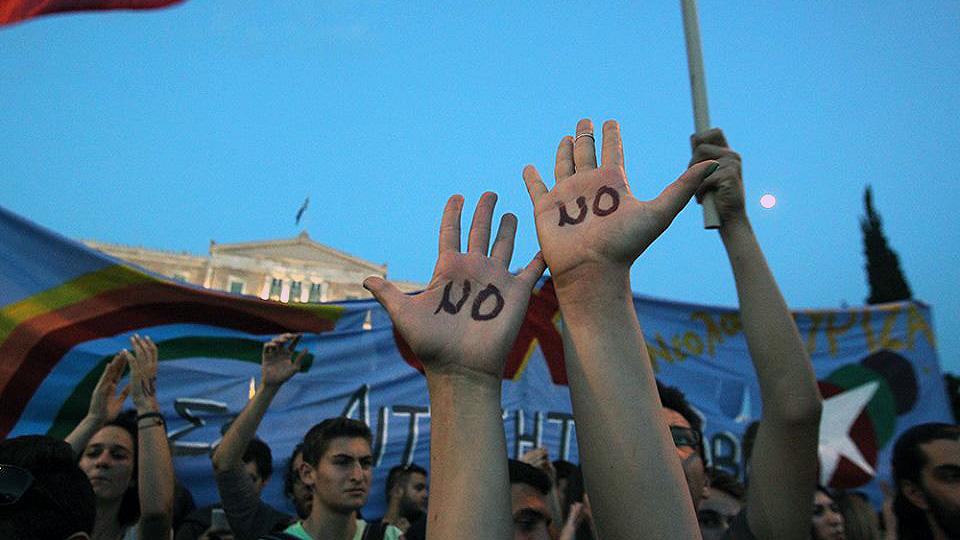 Συγκέντρωση του ΟΧΙ στην πλατεία Βούλας