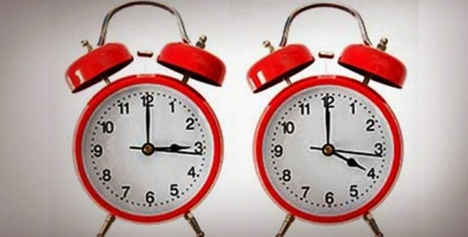 Μια ώρα μπροστά την Κυριακή τα ρολόγια