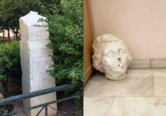 Βάνδαλοι αποκεφάλισαν το άγαλμα της Λέλας Καραγιάνν, μιας ηρωίδας της Αντίστασης.