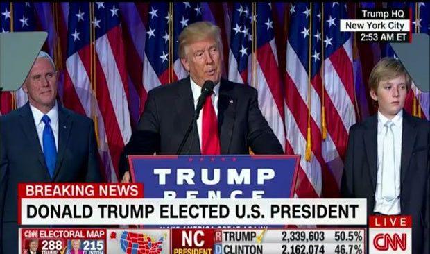 Η μεγάλη ανατροπή: Νέος πρόεδρος των ΗΠΑ ο Ντόναλντ Τραμπ!