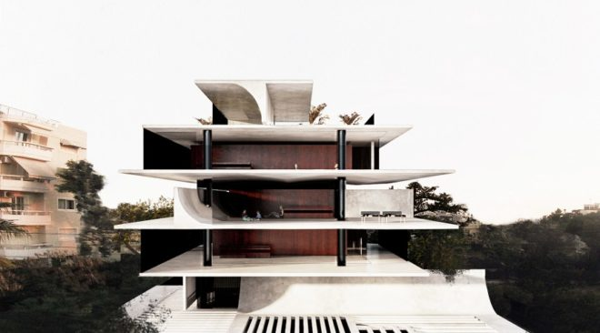 To μοντέρνο κτίριο στη Βούλα που εμπνέεται από τις ιαπωνικές Παγόδες