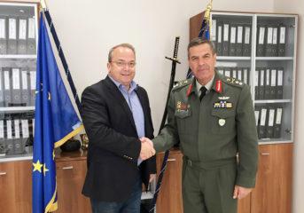 Τον νέο διοικητή της Σχολής Ευελπίδων συνάντησε ο Κωνσταντέλλος