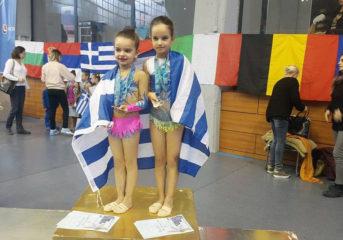 4 μετάλλια για τις αθλήτριες της Ελαίας σε διεθνή συνάντηση στη Βουλγαρία