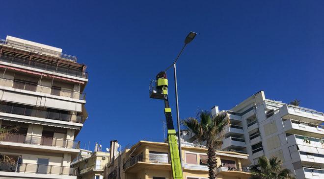 Πιλοτική εγκατάσταση LED στο φωτισμό της παραλιακής λεωφόρου