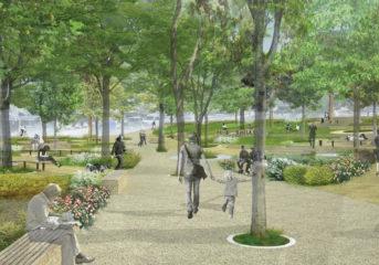 Η νέα όψη της κεντρικής πλατείας Νυμφών στη Βουλιαγμένη
