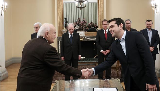 Ορκίστηκε Πρωθυπουργός ο Αλέξης Τσίπρας