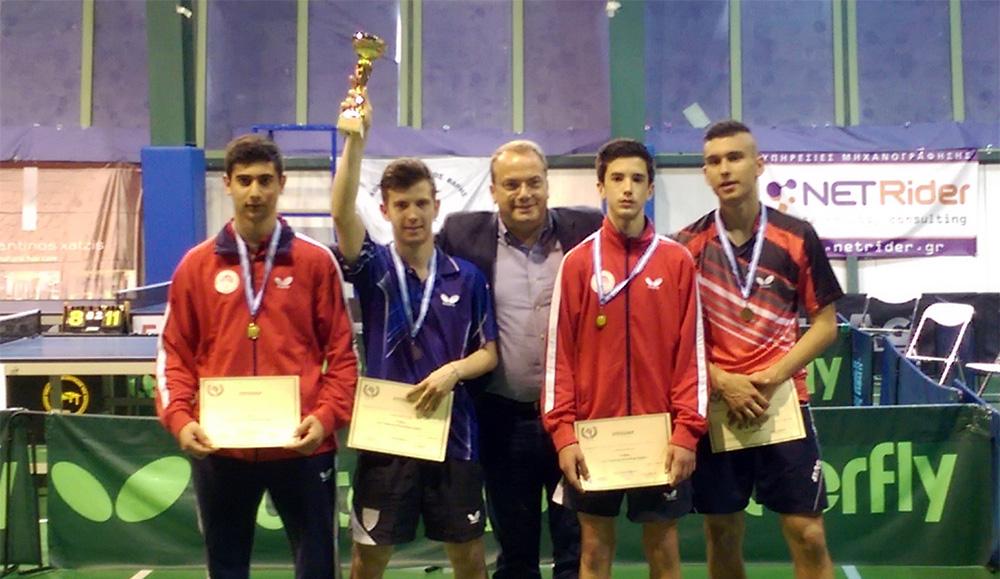 Έβρεξε μετάλλια για τη Βούλα στο Παναττικό πρωτάθλημα πινγκ πονγκ