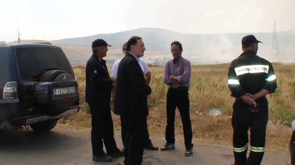 Ικανοποίηση Λαφαζάνη για το σβήσιμο της πυρκαγιάς στον Ασπρόπουργο