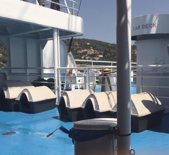 Πλοίο Αχιλλέας: Σπιτάκια χωρίς πόρτα...είναι τα κλουβιά παραμονής ζώων