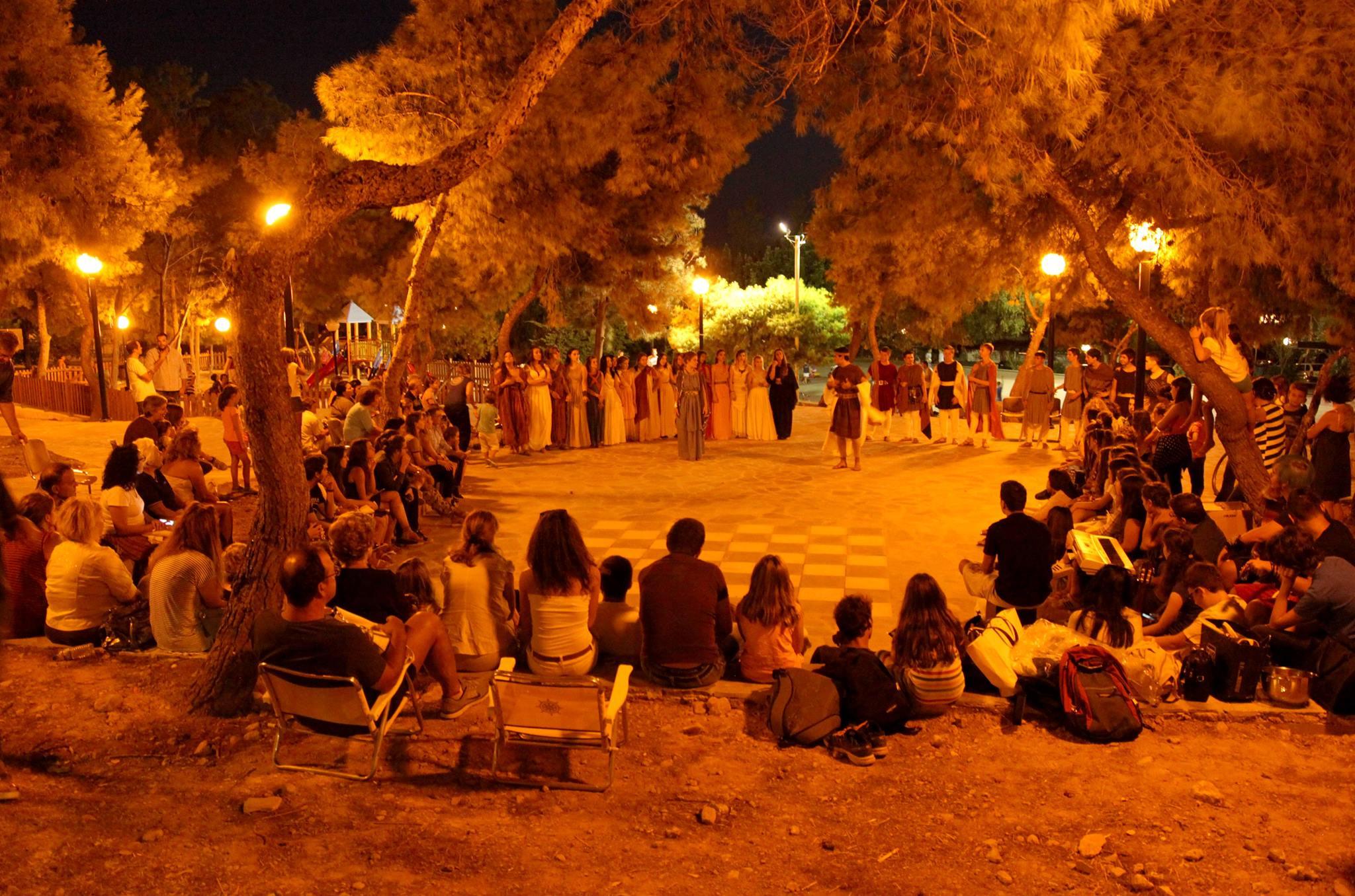 Η άστεγη θεατρική ομάδα των μαθητών της Βούλας