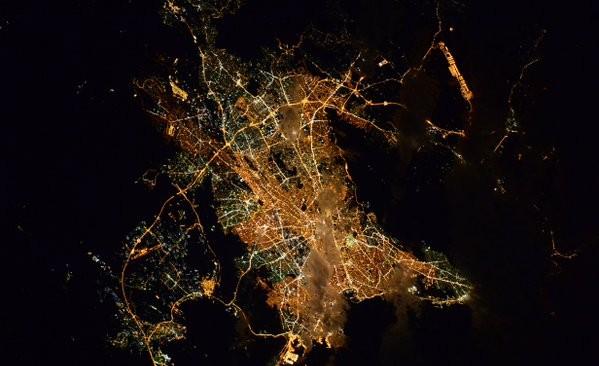 «Καληνύχτα Αθήνα» με φωτό της πόλης από το διάστημα έστειλε αστροναύτης!