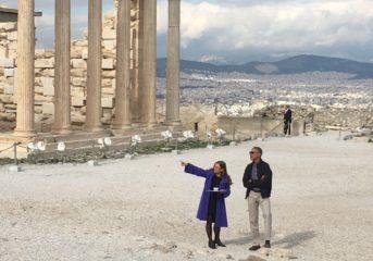 Το εκπληκτικό βίντεο του Ομπάμα από το βράχο της Ακρόπολης
