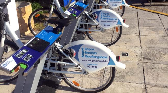 Πώς χρησιμοποιούνται τα κοινόχρηστα ποδήλατα σε Βούλα και Βουλιαγμένη