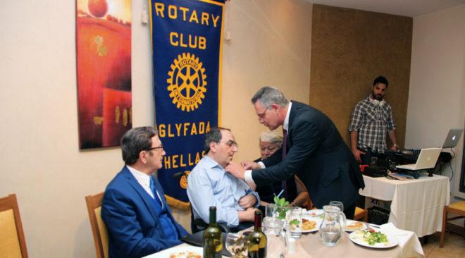 Rotary Club Γλυφάδας: Τίμησε τον ιδρυτή του Παλμού, Δημήτρη Φιλιππόπουλο