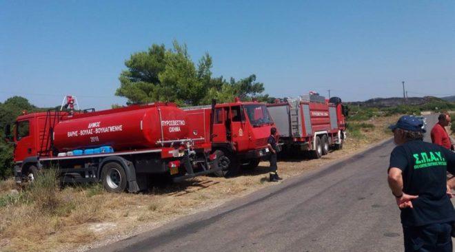 Αρωγός στην κατάσβεση της πυρκαγιάς των Κυθήρων ο Δήμος Βάρης Βούλας Βουλιαγμένης