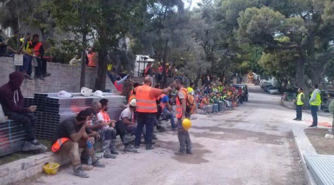 Νέα στάση εργασίας στο εργοτάξιο του Αστέρα Βουλιαγμένης
