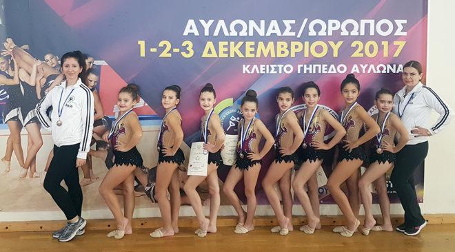 """Μετάλλιο στο Πανελλήνιο Πρωτάθλημα απέσπασαν τα κορίτσια της """"Ελαίας"""""""
