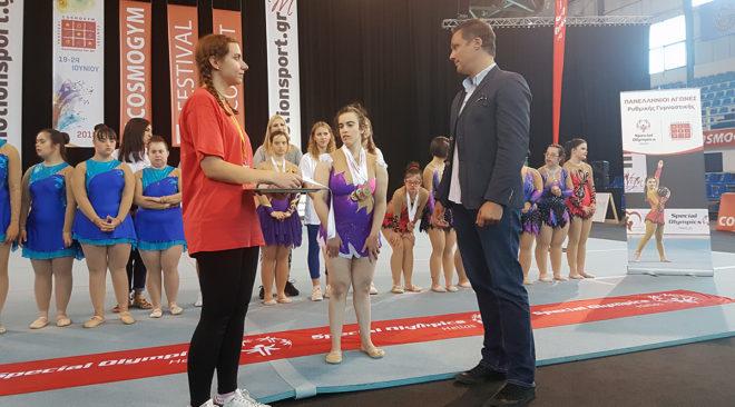 5 χρυσά στη ρυθμική γυμναστική η Βασιλεία Ελματζόγλου