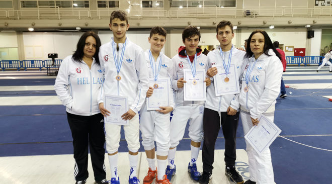 Πρόκριση στο Πανευρωπαϊκό Πρωτάθλημα ξιφασκίας οι αθλητές του ΟΞΙΓ