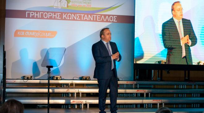 Πορεία για νέα θητεία ξεκίνησε ο Γρηγόρης Κωνσταντέλλος