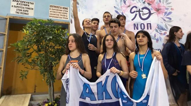 Κύπελλο Άνοιξης Πάτρας: Σάρωσε τα μετάλλια στην κολύμβηση ο ΑΚΟΒΒ