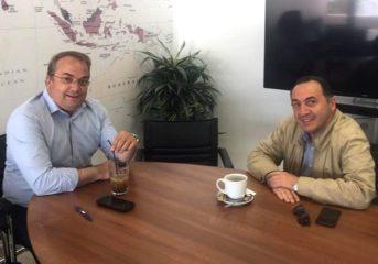 Συνάντηση Κωνσταντέλλου Πανά στο Δημαρχείο Βούλας