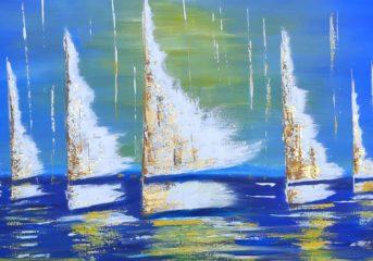 Ζωγραφική και φωτογραφία με θέμα τη θάλασσα στη Βάρκιζα