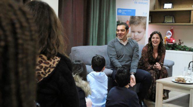 Στο Παιδικό Χωριό SOS Βάρης ο Αλέξης Τσίπρας