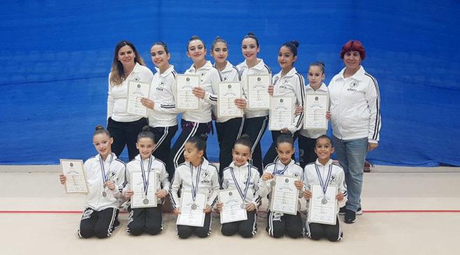 """Ξεχώρισαν πάλι οι αθλήτριες της """"Ελαίας"""" στη ρυθμική γυμναστική"""