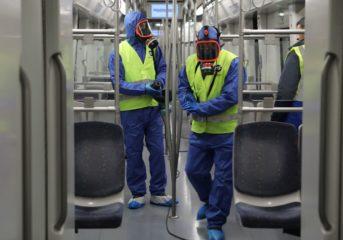 Απολυμαίνονται μετρό, τραμ και λεωφορεία από τον ΟΑΣΑ