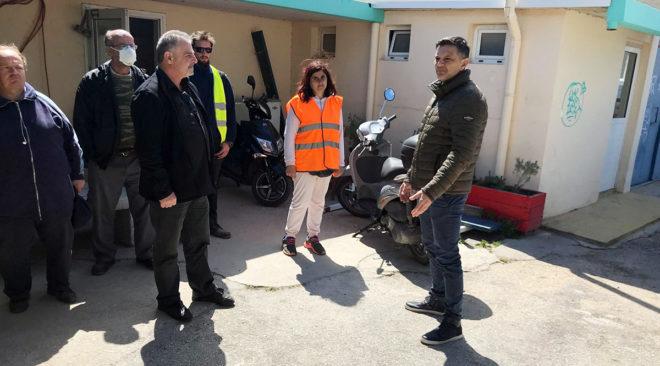 Βάρη: Επίσκεψη Πασακυριάκου στην Υπηρεσία Καθαριότητας