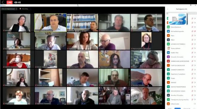 Μάθημα δημοκρατίας το διά τηλεδιάσκεψης Δημοτικό Συμβούλιο των 3Β