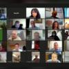 Οι δημοτικοί σύμβουλοι των 3Β μέσα από τα «παράθυρα» της τηλεδιάσκεψης